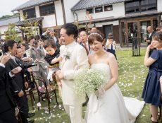 恋人の聖地、竹田城のふもとでガーデン結婚式