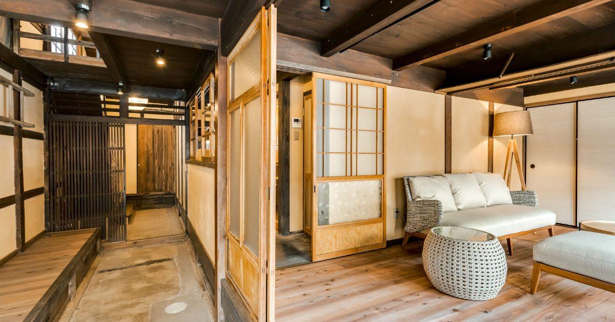 築100年以上歴史ある古民家の部屋
